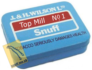 Top Mill No. 1 Snuff Small Tin