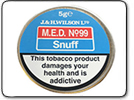 M.E.D No.99 Snuff Tap Tin