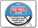 Top Mill No. 1 Snuff Tap Tin